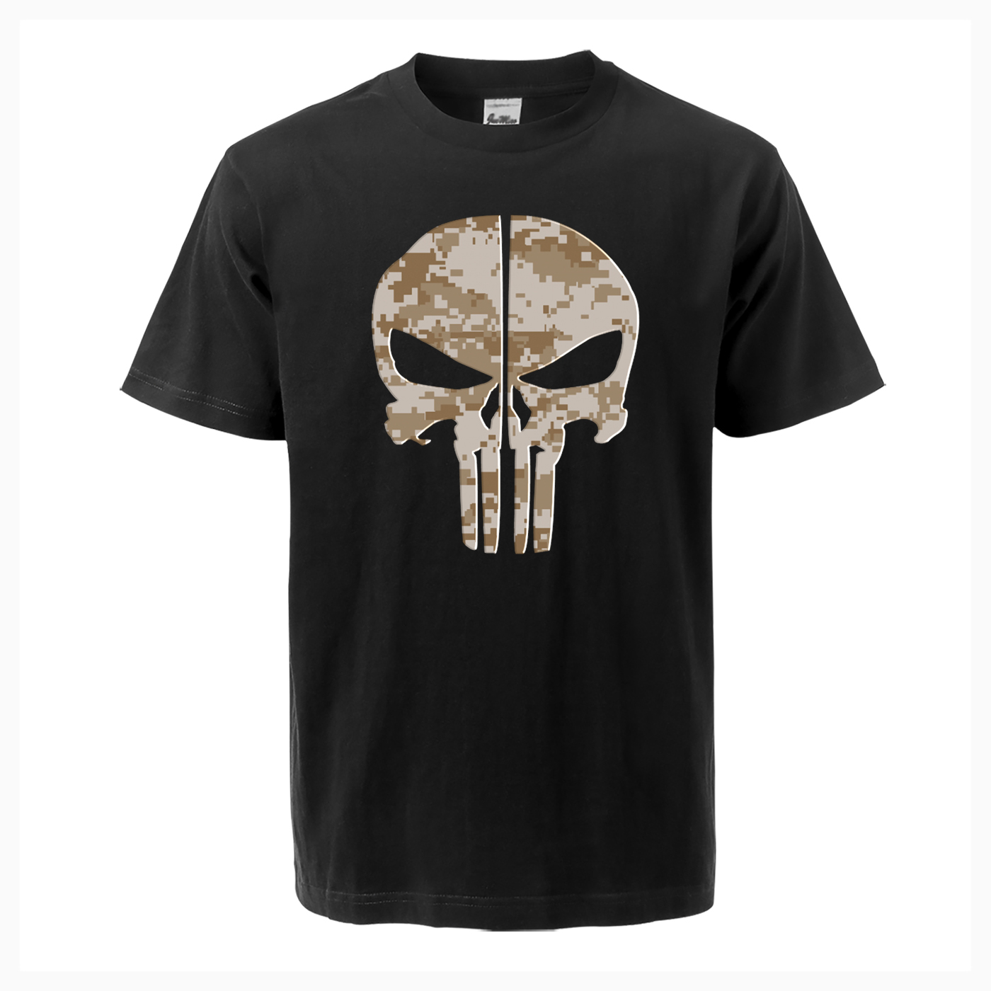 TV Show Camo Skull Mens Hot Summer T Shirt Arrival Fashion Tops Tees Casual High Quality Cotton Short Sleeve Harajuku Streetwear