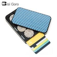 Bisi goro карбоновая защита кредитный держатель для карт rfid