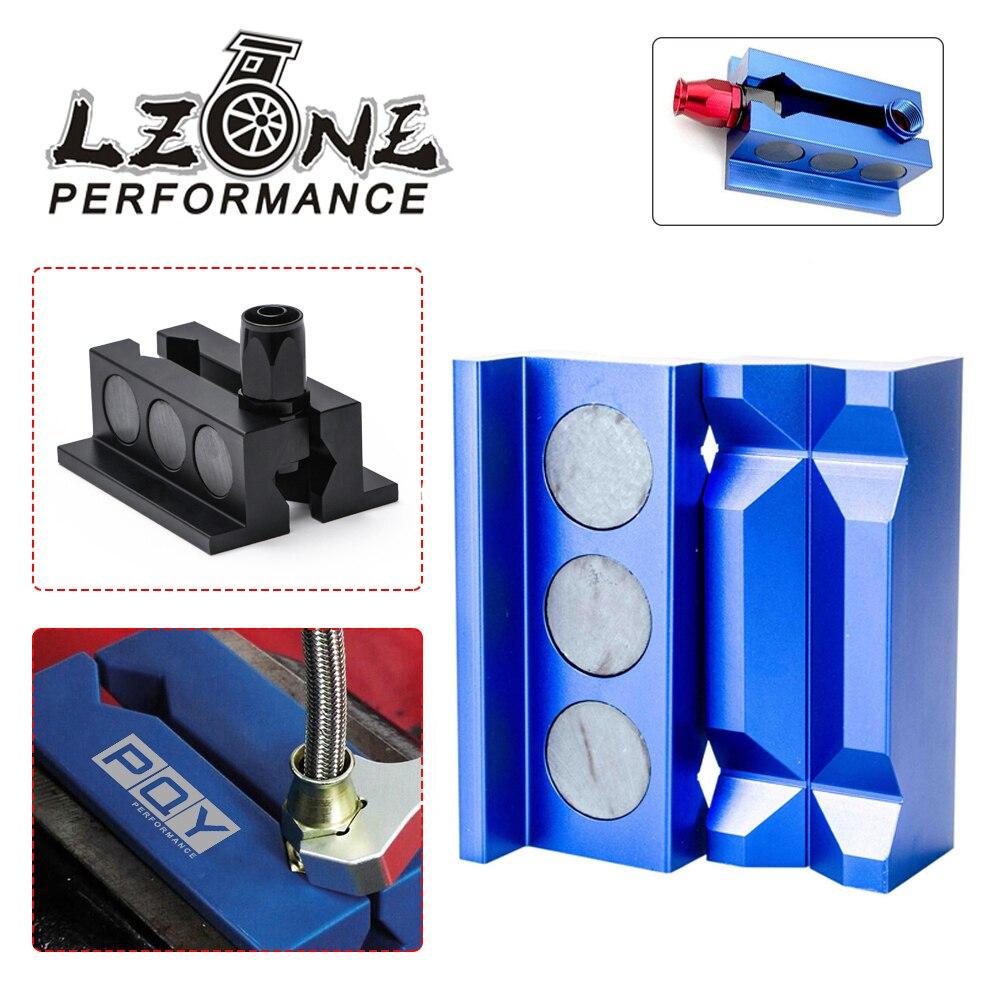 Inserts de protection de mâchoire d'étau en aluminium LZONE-billette pour raccords avec JR-SLV0304-01 magnétique