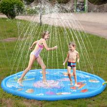 Children Play Water Mat Games Beach Pad Kids Outdoor Water spray Beach Mat Lawn Inflatable Sprinkler Cushion Toys Cushion(China)