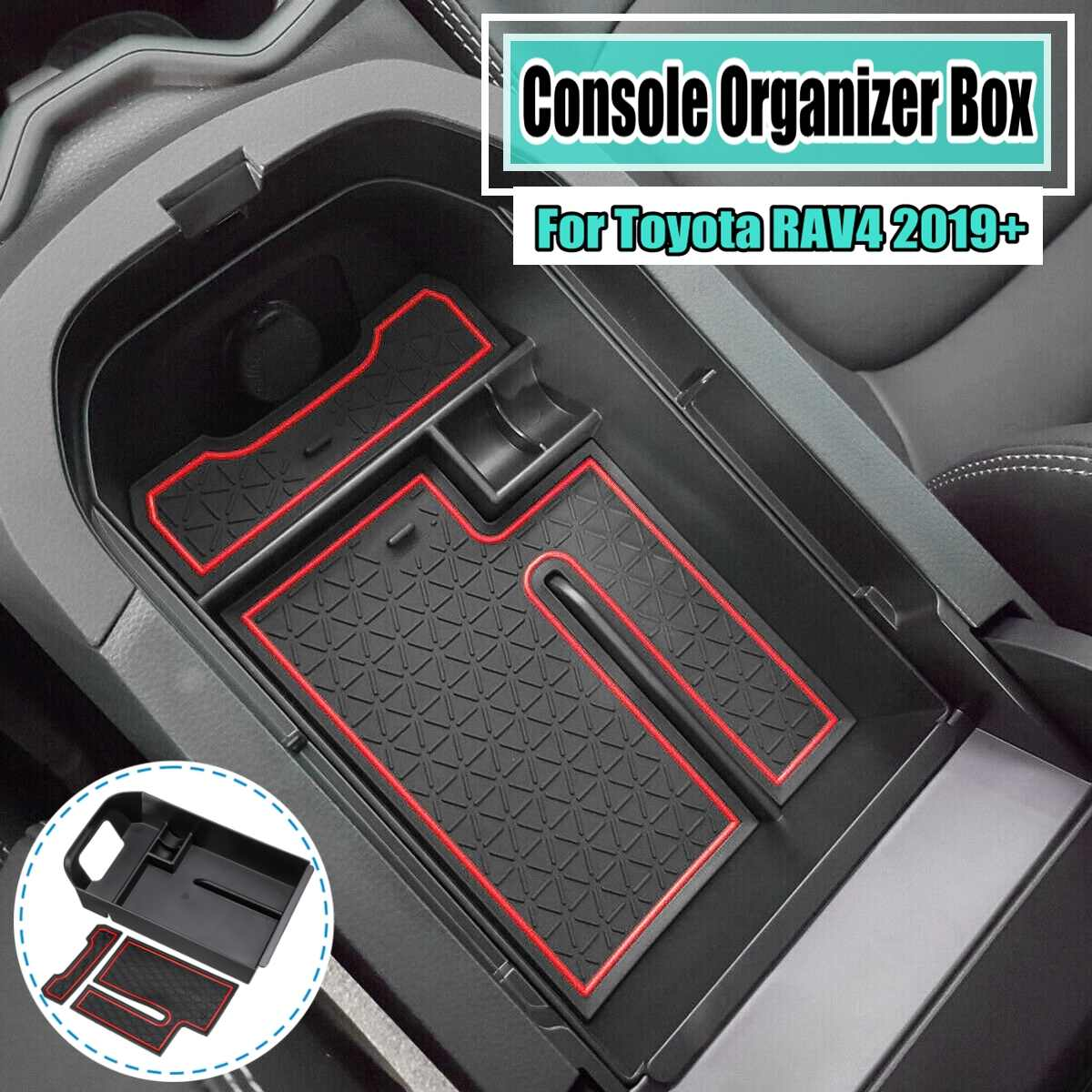 Armrest Storage Box Holder Container Glove Pallet Tray for Avalon TOMALL Center Console Organizer for 2019 Toyoya Avalon