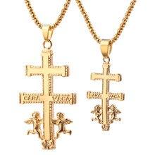 Colar de cruz de cruz com anjo de querubim melhor colares cristãos para as mulheres