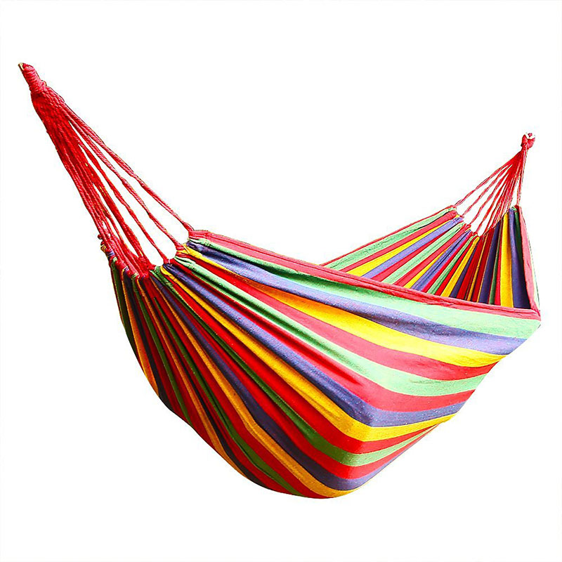 Hammock For 2 PersonsPortable Hammock Outdoor Hammock Garden Sports Home Travel Camping Swing 200cm * 150cm Up To 200 Kg Red