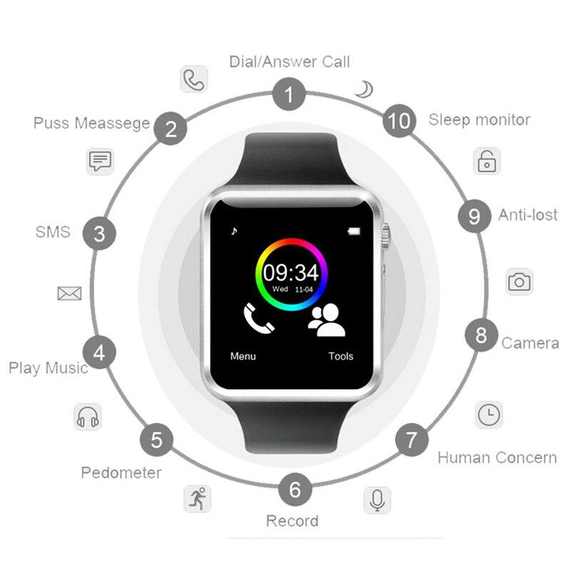 3-A1 Смарт-часы водонепроницаемый Bluetooth Wrist Часы Спорт шагомер с SIM TF карты камеры Смарт-часы для Android Watch Phone смотреть на Алиэкспресс Иркутск в рублях