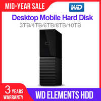 Western Digital WD 3TB 4TB 6TB 8TB 10TB My Book Desktop External Hard Drive Original- USB 3.0/256-bit AES Hardware Encryption