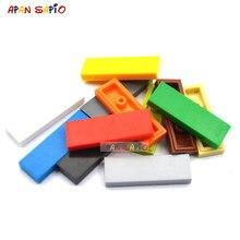 50 Uds DIY bloques de construcción Delgado, suave 1x3 puntos figura educativos juguetes para talla para niños compatibles con 63864 ladrillos.