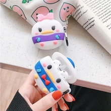 Jamular For AirPods Case 3D Cute Cartoon Daisy Donald Duck Wireless Bluetooth Earphone Cover for Airpods 2