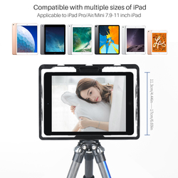 Ulanzi Vlog Filmmaking Rig Metal Case For iPad Pro Air Mini with Cold Shoe Video Shooting Mount Bracket For Microphone LED Light