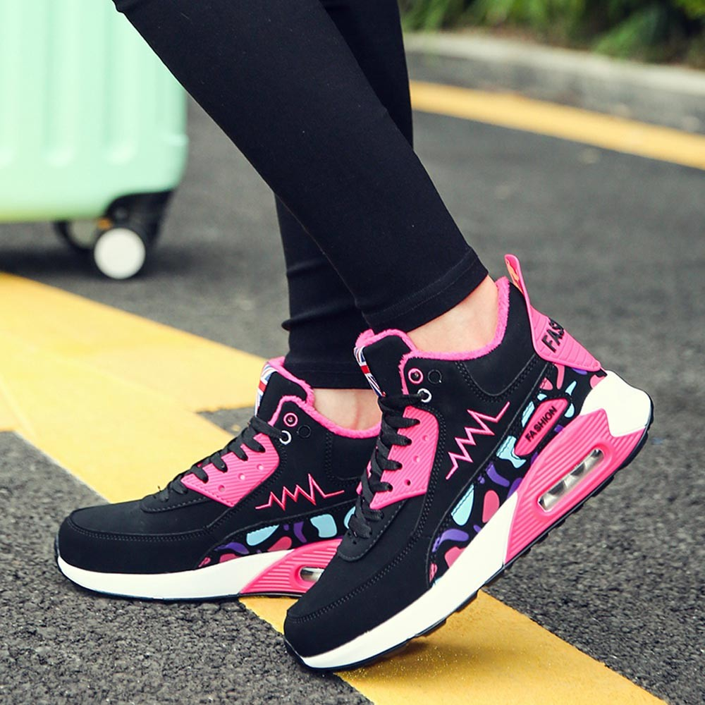 Fashion Women Casual Shoes High-Top Cotton Student Lace Up Comfortable Sneakers High Quality Vulcanize Shoes Zapatillas Mujer thumbnail