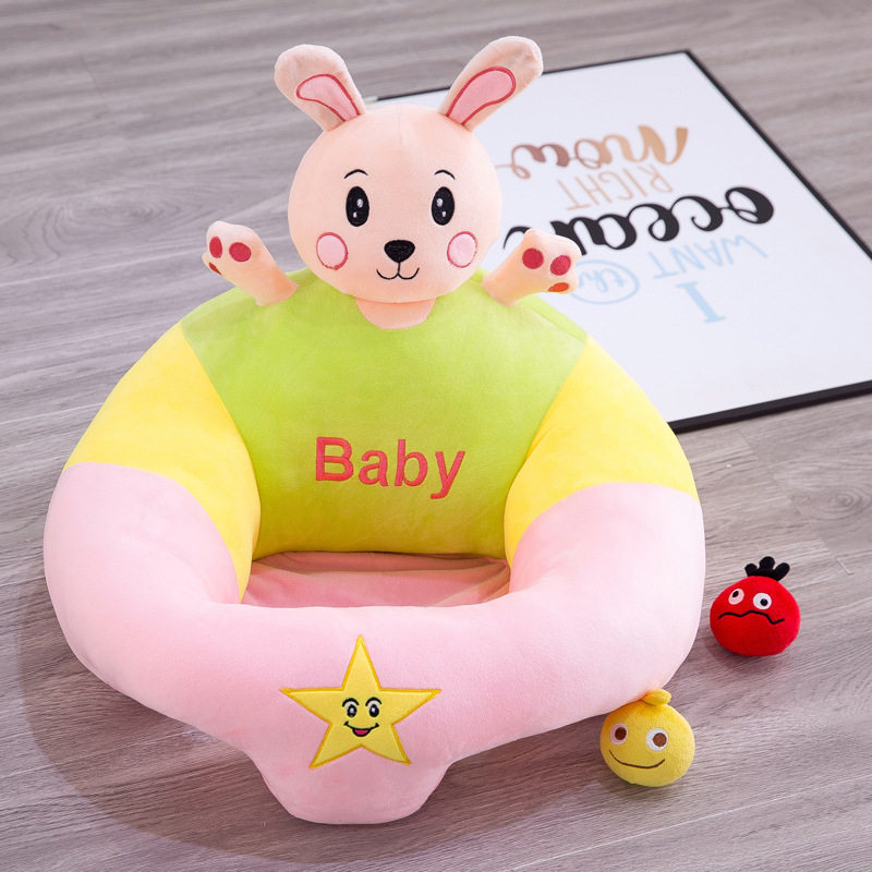 Hot Creative Cartoon Baby Anti-fall Learning Chair Portable Infant Seat Cartoon Sofa Comfortable Soft Play Learning Seat