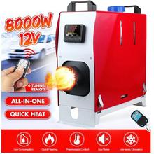 12V 8KW Parking Car Air Diesel Heater Set Full Burn Car Truck Bus  Low Noise Air Heater Warm Fan W/Remote Control LCD Display