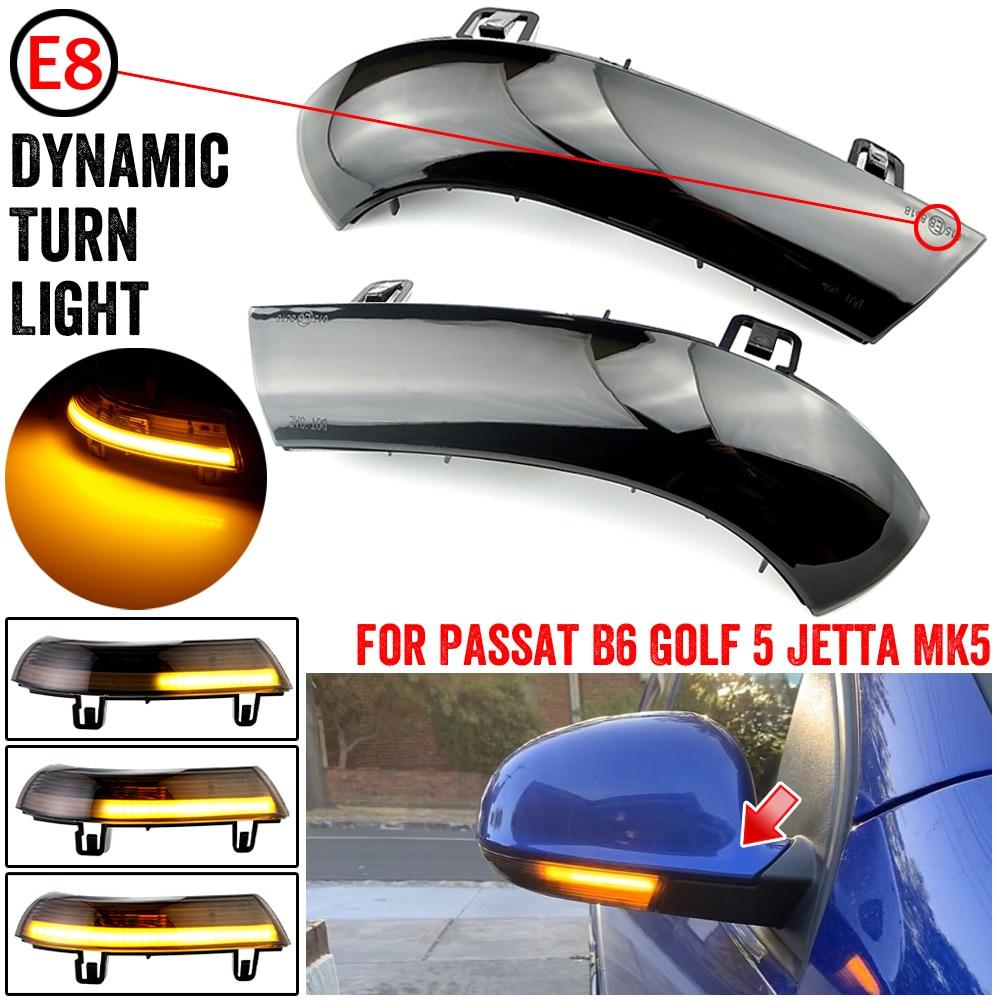 Для VW GOLF 5 GTI V MK5 Jetta Passat B5.5 B6 Sharan превосходное EOS воды мигать динамичные плавные боковое зеркало светодиодный указатель поворота светильник