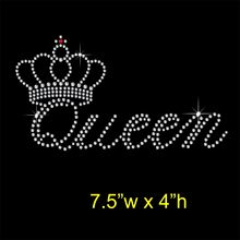 Queen with crown transfers design iron on transfer patches hot fix rhinestone motifs fixing rhinestones