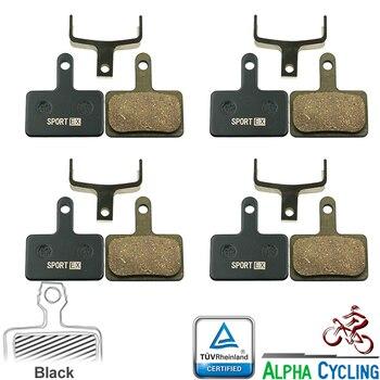 Bicycle Disc Brake Pads for SHIMANO B01S, MT200, Deore M515, M525, C501, C601, M375, M395, M415, M416, M446, M465, 4 Pairs система shimano deore m610 170мм ин вал 42 32 24t с кареткой серебристый efcm610c224xs