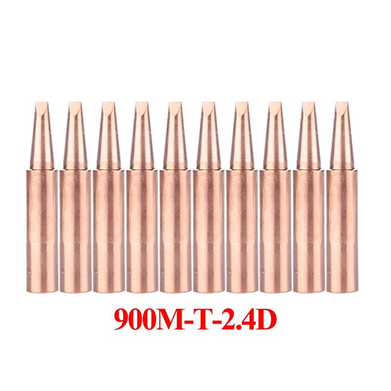 10Pcs/lot 900M-T-2.4D Pure Copper Soldering Iron Tip Lead-free Welding Sting BGA Welding Tools