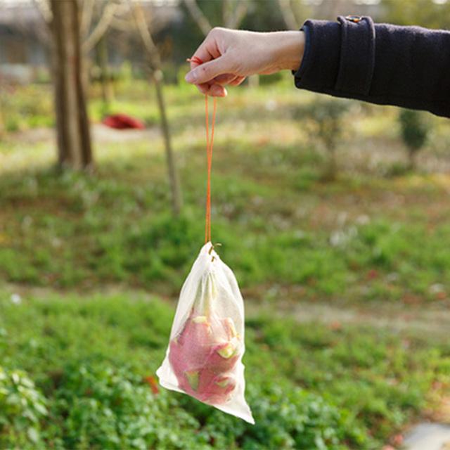 Reusable Nylon Mesh Fruit Bag 100 Pcs Set