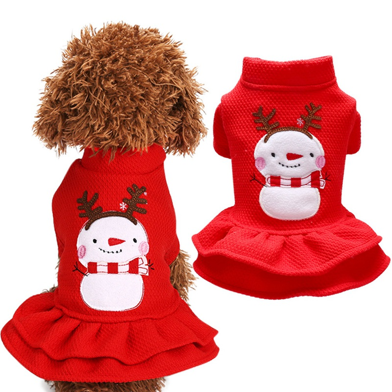 Christmas <font><b>Dog</b></font> <font><b>Dress</b></font> <font><b>Winter</b></font> Pet <font><b>Dog</b></font> Clothe Warm Clothes <font><b>Dog</b></font> Girl Costume Princess <font><b>Dress</b></font> 2-legged Cute Apparel Christmas Decor image