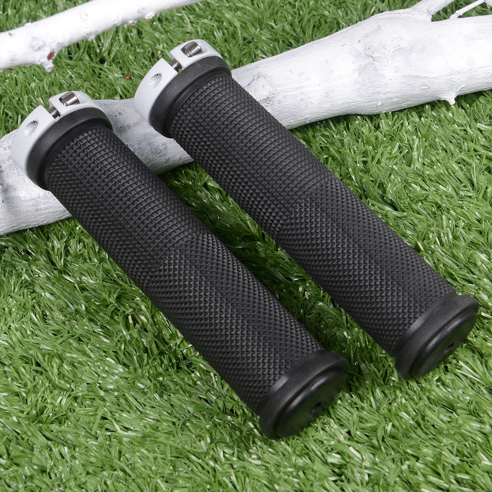 1 Pair Bicycle Single Side Lock Handle Cover Rubber Anti-Skid MTB Cycling Bike Handlebar Grips for Fixed Gear Mountain End Grips