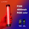 LUXCEO P200 светодиодный светильник для фотосъемки ручной RGB светильник трубка для видео мягсветильник Свет приложение пульт дистанционного уп...