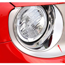 ABS Chrome Car Front Light Headlamps Eyebrow Trim Cover For Jeep Renegade 2015 2016 2017 Accessories Car Styling abs chrome car front light headlamps eyebrow trim cover for jeep renegade 2015 2016 2017 accessories car styling