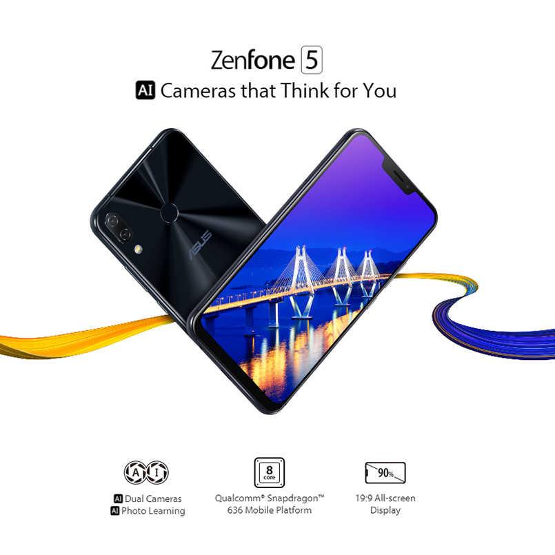 """Asus Zenfone 5 ZE620KL Điện Thoại Di Động 6.2 """"19:9 FHD + 4GB 64GB Qualcomm Snapdragon 636 3300MAh pin NFC Android 8.0 Điện Thoại Thông Minh"""