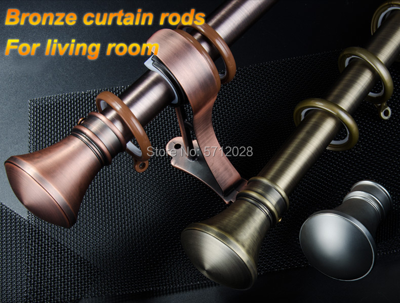 antique bronze roman rod customized mute stainless steel brushed double curtain rod set for windows curtain rod bracket