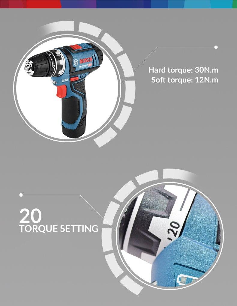 Bosch GSR12V Cordless Drill 12