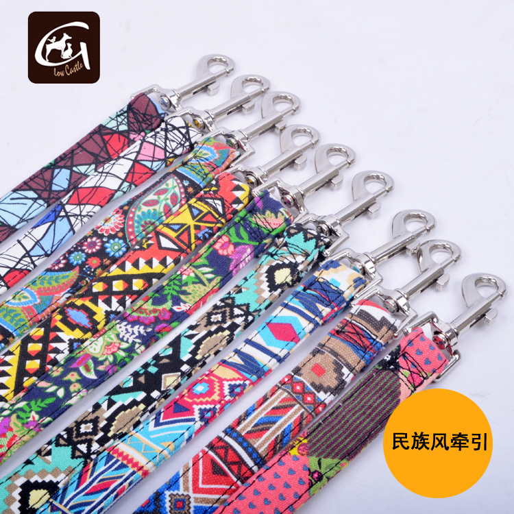 19 Years Ethnic-Style Bohemian Color Flowers And Birds Hand Holding Rope Cool Traction Dog Nursing Drawstring Sling