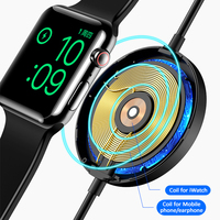 USAMS 3 in 1 Wireless Charger 10W Fast Qi Wireless Charger With Lightning Cable for Airpods iPhone 12 X XS XR iWatch S1 S2 S3 S4 Samsung Xiaomi Huawei