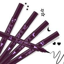 Winged Stamp Eyeliner Waterproof Makeup Cosmetic Eye Liner Pencil Black Liquid