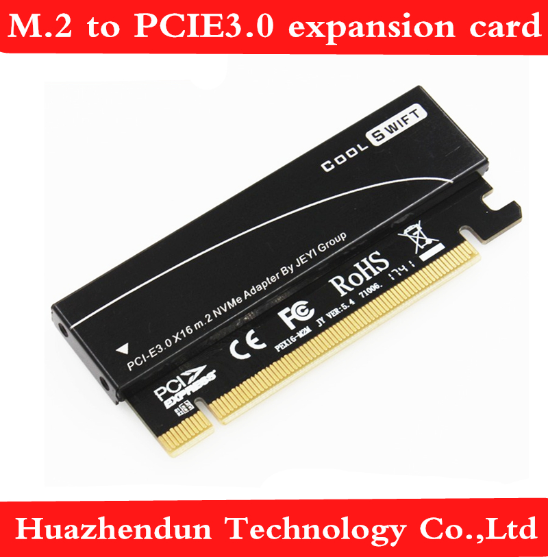 Unidade de Alumínio Livre do Cartão de Expansão M.2 para Pcie3.0 Placa Adaptadora Mkey Nvme Caixa Full Velocidade X16 1pcs Pós