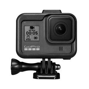 Image 4 - إطار بلاستيكي قياسي لـ GoPro Hero 8 ، هيكل واقي ، ضوء فيديو ، حامل ميكروفون ، ملحقات كاميرا الحركة