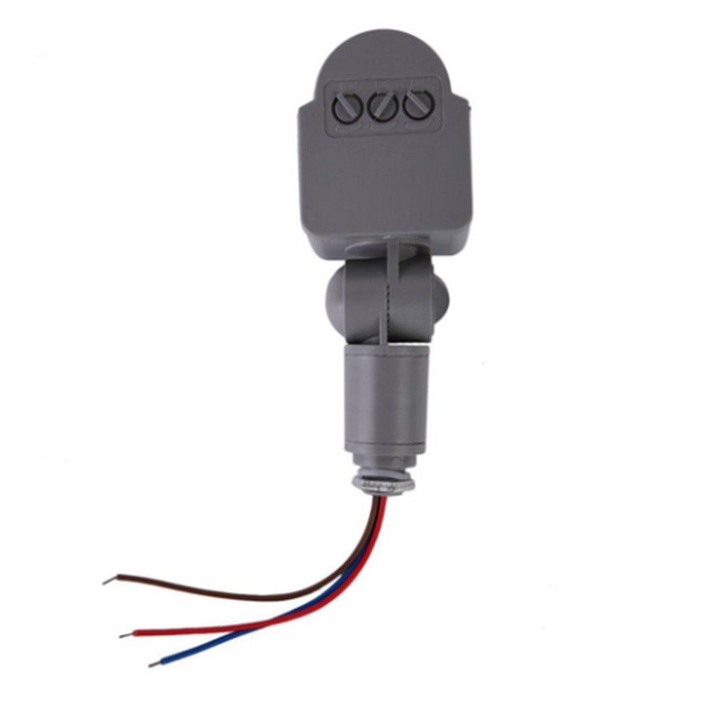 AC 220V DC 12V Infrared PIR Motion Sensor Switch With LED Light Automatic Outdoor Motion Sensor Light Switch 140 Sensor Degrees|Sensor & Detector| |  - title=