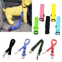 Adjustable pet dog collar car seat belt puppies safety trolley traction rope supplies