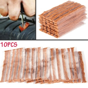 10Pcs Car Auto Motorcycle Tubeless Tires Wheel Repair Rubber Strips Puncture Emergency Repair Tool set for repair of tubeless tires 8 items set