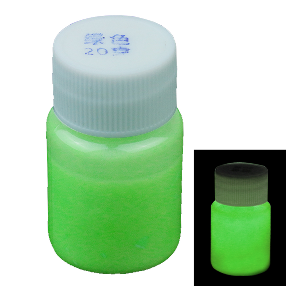 20g Green Luminous Paint Glow In The Dark Fluorescent Paint For Party Nail Decoration Art Supplies Phosphor Paint Acrylic Paint