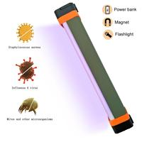 Outdoor Camping Light Torch UV Disinfection Lamp 4W Germicidal Mite Sterilizing UV lamp Flashlight Torch with Magentic Powerbank