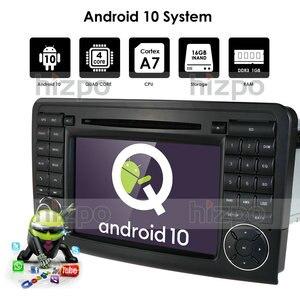 Image 2 - أندرويد 10 مشغل أسطوانات للسيارة راديو لتحديد المواقع لمرسيدس بنز GL ML الفئة W164 X164 ML300 350 450 GL320 USB الصلب عجلة التحكم DVR كاميرا مجانية