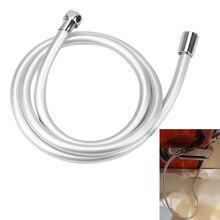 Pvc handheld mangueira de chuveiro flexível anti enrolamento alta pressão gi/2 universal interface mangueira acessórios do banheiro