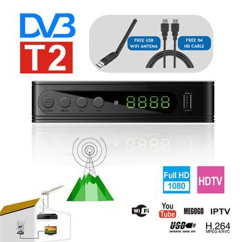 Prefix DVB-T2 TV Tuner DVBT2 DVB-T Tuner DVB T2 Vga Digital TV Box H.264 HD Wifi Receiver Support AC3 PVR EPG Dual CVBS image