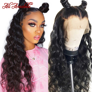 Loose Wave Lace Front Wig Brazilian Remy Human Hair Wigs With Baby Hair Ali Annabelle Loose Wave Wig Lace Front Human Hair Wigs