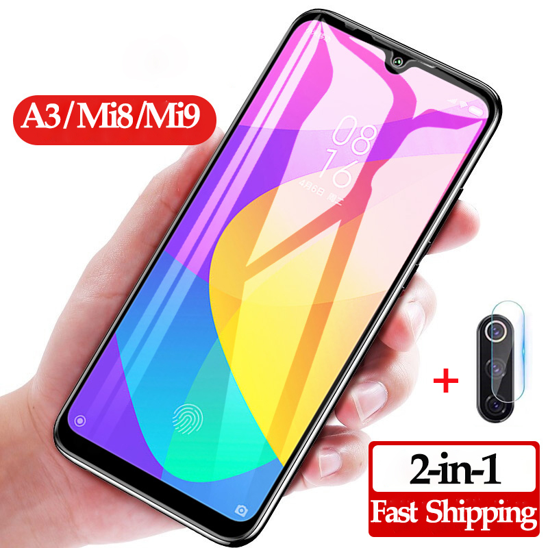 2-in-1 <font><b>camera</b></font> screen <font><b>protector</b></font> for <font><b>Xiaomi</b></font> Mi A3 8 9 Lite 9T glass <font><b>MI9</b></font> mi a3 screen <font><b>protector</b></font> <font><b>Xiaomi</b></font> A3 <font><b>MI9</b></font> se protective glass mi8 lite mi9t <font><b>xiaomi</b></font>-mi-a3 glass image
