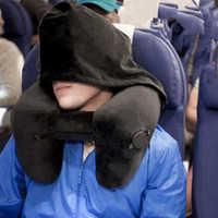 Nouveau H forme gonflable voyage oreiller pliant léger sieste cou oreiller siège de voiture bureau avion dormir coussin oreiller