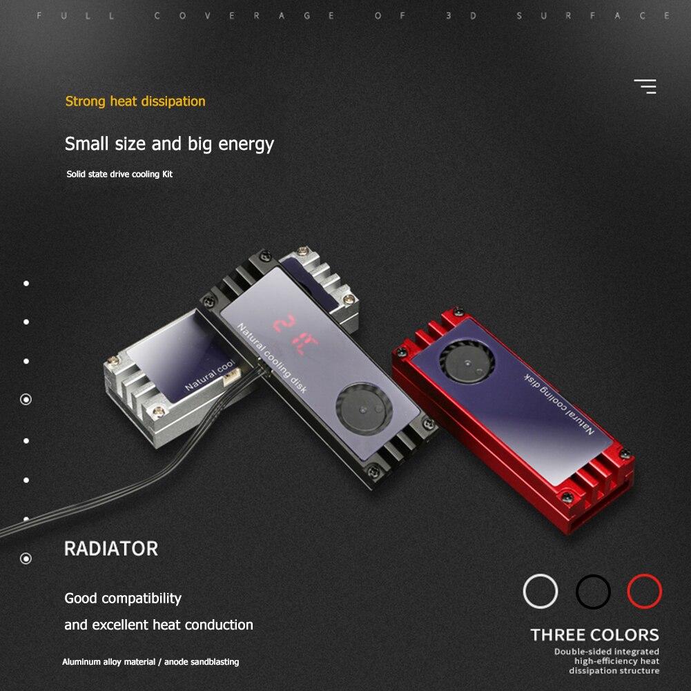 Radiador m.2 2280 nvme, temperatura do resfriador