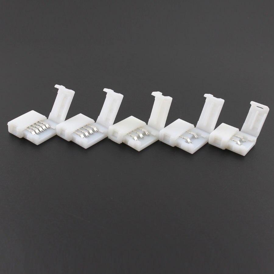 DC 5V 12V 24V LED Strip connecter 2pin 3pin 4pin 5Pin Connector Single RGB Led strip Connector For 2835 5050 RGB RGBW LED Strip