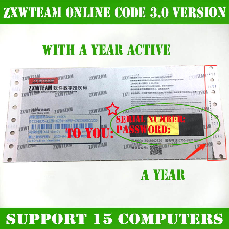 Original ZXWTEAM ZXWSOFT Zxw Tool 3.0 Software Mobile Phone Repair Drawing 1 Year (No Shipping, Time Waiting, Online Delivery)