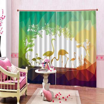 color geometric curtains Luxury Blackout 3D Window Curtains For Living Room Bedroom Decoration curtains