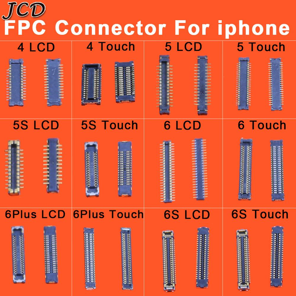 JCD For iPhone 4 5 5S 6 6S 6Plus 6S LCD Display Touch Screen Digitizer Battery FPC Connector On Motherboard image