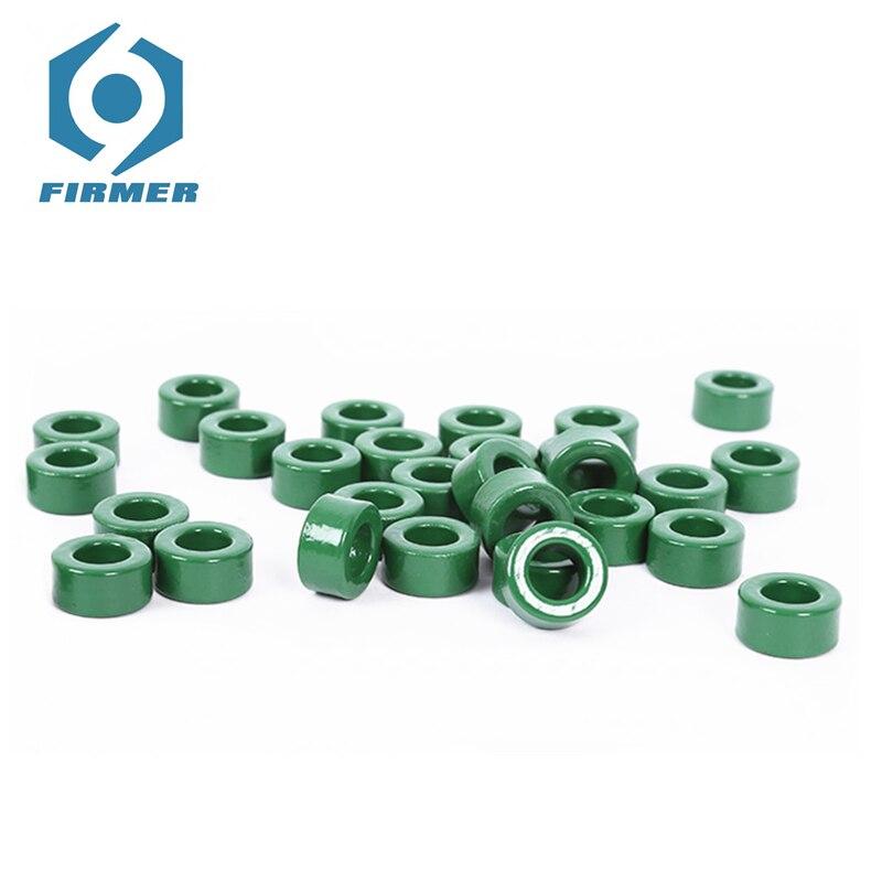 Ferrite Core Toroid Core 50PCS 14x8x7 MM Manganese Zinc Ferrite Chokes Ring Iron Powder Core Inductor Ferrite Rings Green