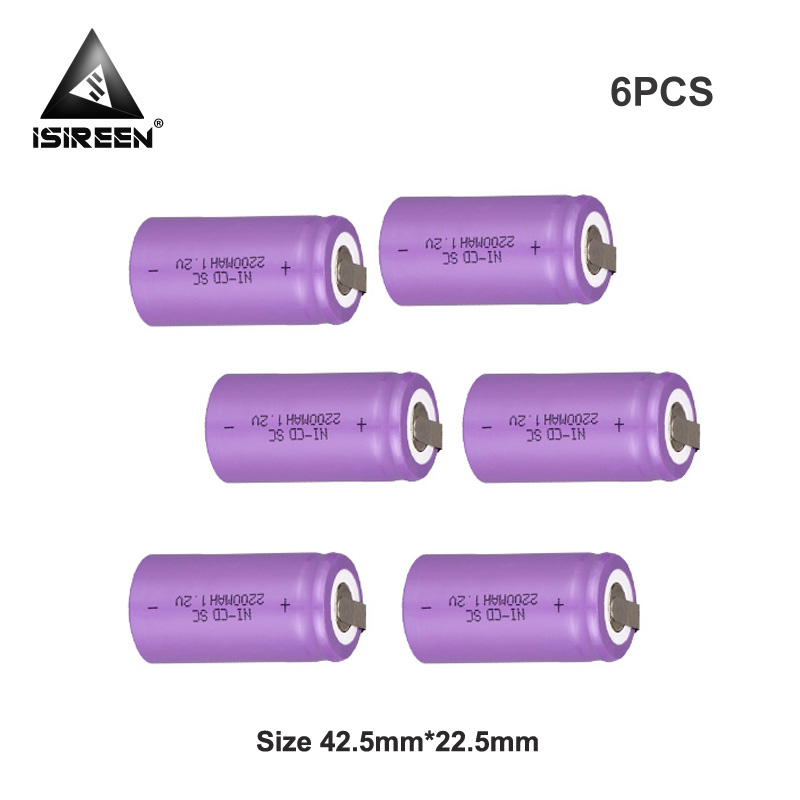 SC Ni-CD Rechargeable <font><b>Battery</b></font> Cells 1.2V <font><b>2200mAh</b></font> DIY <font><b>Battery</b></font> Packs Subc Ni CD Accumulator Electric Tools 7.2V 12V <font><b>14.4V</b></font> 18V image